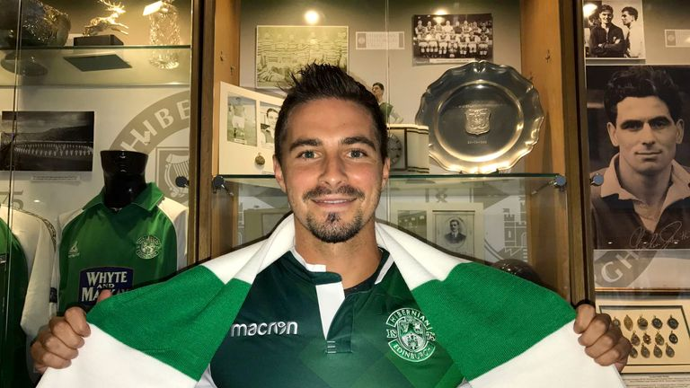 Jamie Maclaren wanted to move back to Scotland from Germany (Picture courtesy of Hibernian FC)