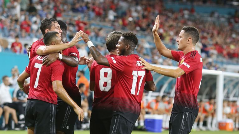United clinched their first pre-season victory inside 90 minutes against European champions Real Madrid