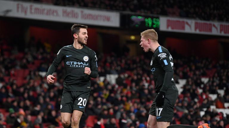 Manchester City beat Arsenal in front of a sparse crowd at the Emirates last March