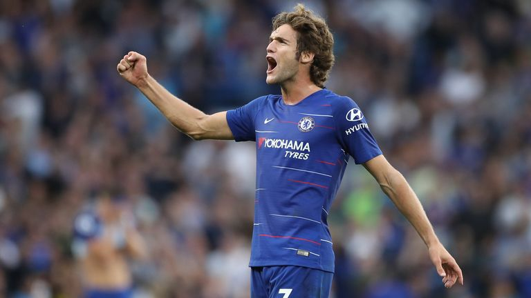 Marcos Alonso scored an 81st-minute winner for Chelsea after a thriller