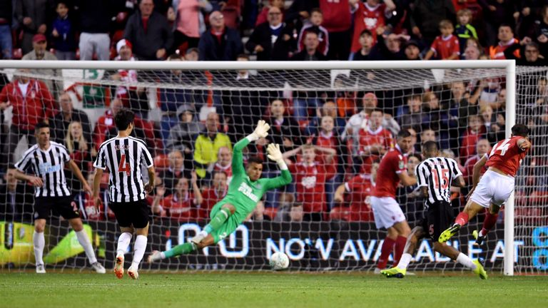 Matty Cash fired Nottingham Forest back in front moments after Salomon Rondon's equaliser