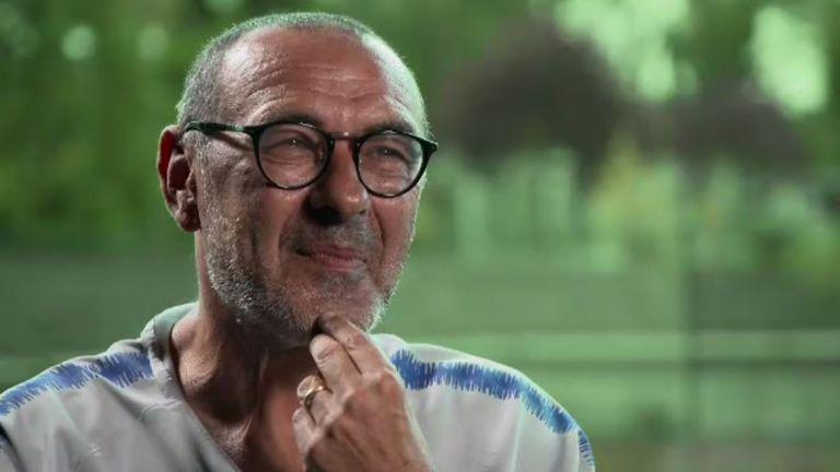 Maurizio Sarri Chelsea exclusive