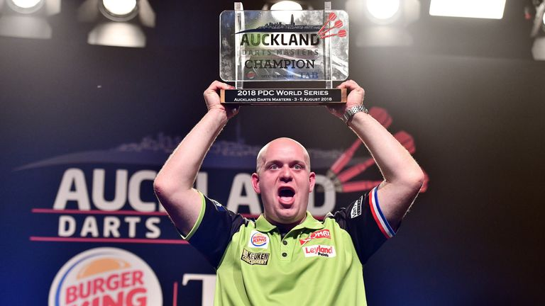 Michael van Gerwen won his first World Series title of the year after four televised tournaments without a win (Photosport NZ/PDC)