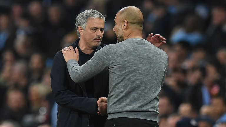 Jose Mourinho and Pep Guardiola are old adversaries from their time in Spain