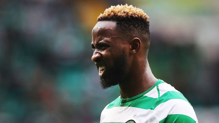 Moussa Dembele of Celtic is seen during the Scottish Premier League match between Celtic and Hamilton Academical at Celtic Park Stadium on August 25, 2018 in Glasgow, Scotland. (Photo by Ian MacNicol/Getty Images)