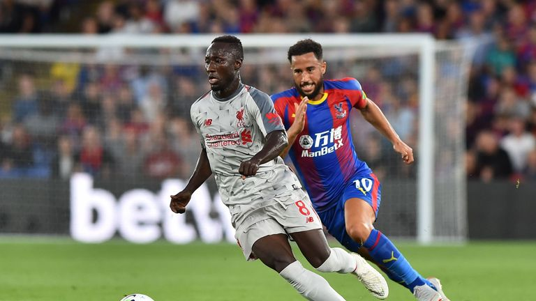 Naby Keita in action for Liverpool against Crystal Palace