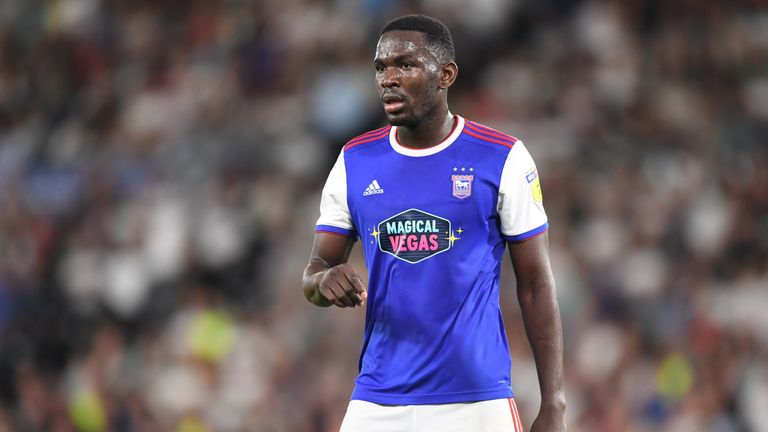 Toto Nsiala is banned for Ipswich on Sunday