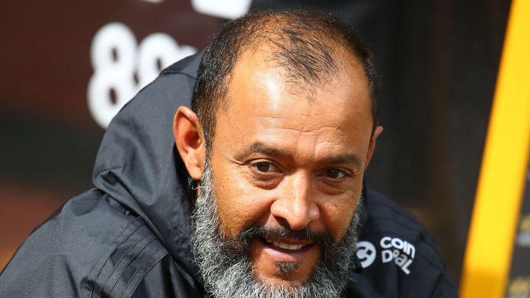 Wolverhampton Wanderers' head coach Nuno Espirito Santo is seen before kick-off