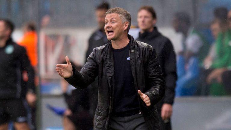 16/08/18 UEFA EUROPA LEAGUE THIRD QUALIFYING ROUND 2ND LEG.MOLDE FK V HIBERNIAN.MOLDE - NORWAY .Molde manager Ole Gunnar Solskjaer.