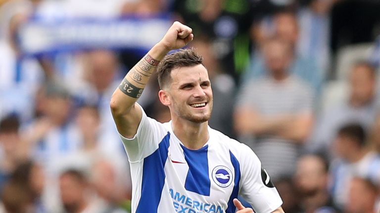 Pascal Gross has scored all eight of his Premier League goals at the Amex