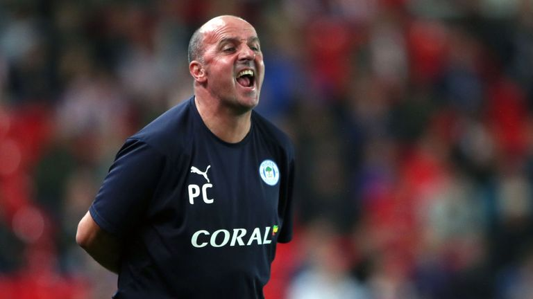 Wigan Athletic manager Paul Cook