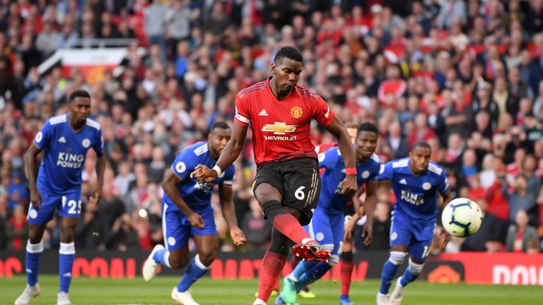 Paul Pogba scores an early goal from the penalty spot