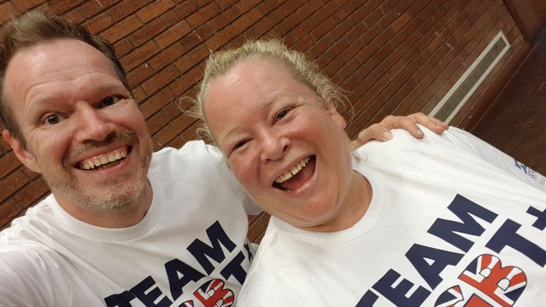 Gary and Paula will be proudly representing 'Team LGBT' at the Gay Games in Paris, with their competition taking place on Friday