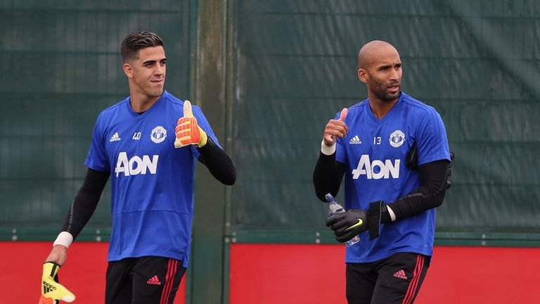 The arrival of Lee Grant (right) has given United another goalkeeping back-up