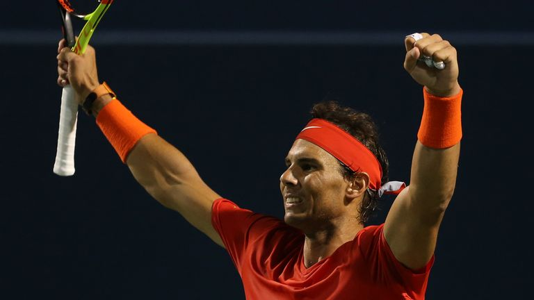 Rafael Nadal stayed on course for his first title at the Rogers Cup since 2013