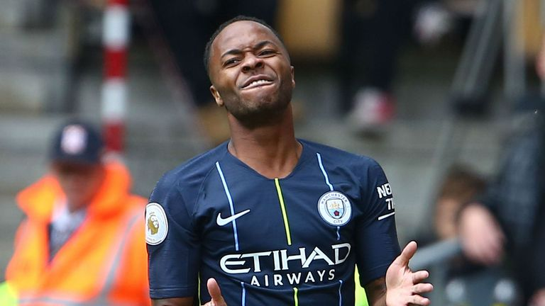 Sterling reacts after coming close at Molineux