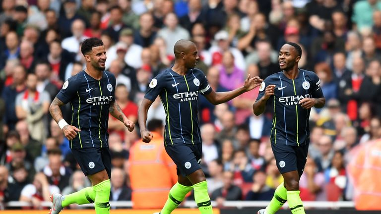 Sterling scored in Manchester City's 2-0 opening day win at Arsenal