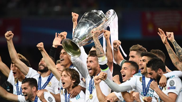 Real Madrid are targeting a fourth Champions League title in a row