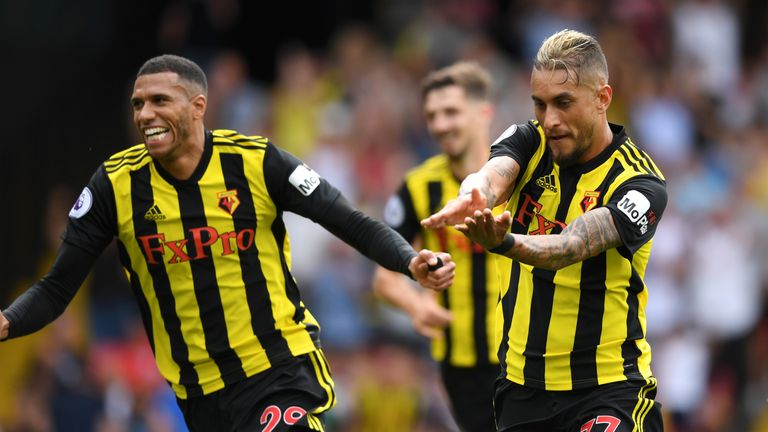 Roberto Pereyra scored twice in Watford's win