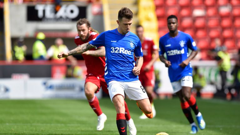 Ryan Jack is still recovering from the head injury he sustained against Aberdeen