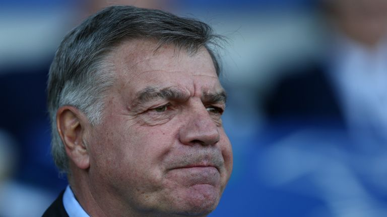 Sam Allardyce, Manager of Everton looks on prior to the Premier League match between Everton and Southampton at Goodison Park on May 5, 2018 in Liverpool, England.
