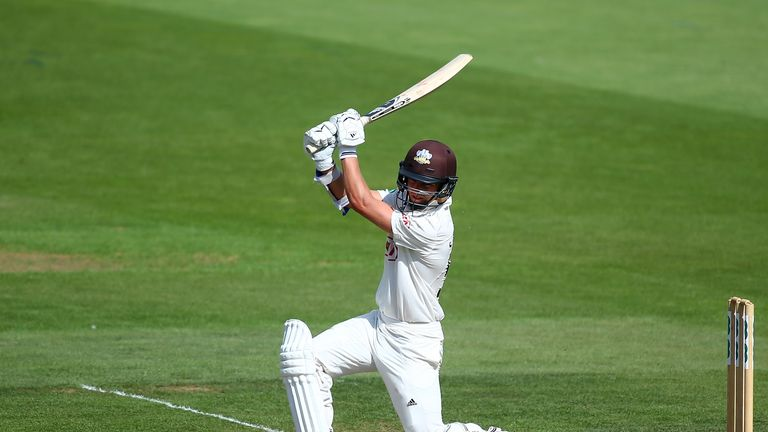 during day one of the Specsavers County Championship Division One match between Surrey and Lancashire at The Kia Oval on August 19, 2018 in London, England.