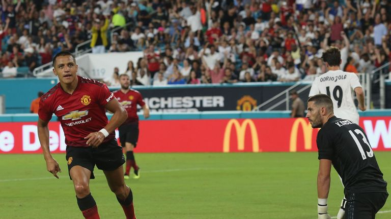 Alexis Sanchez scored and assisted in the victory over Real
