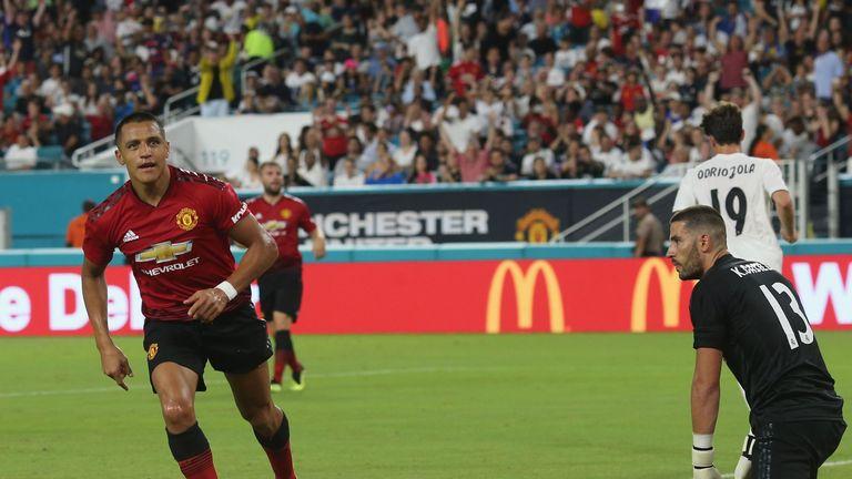 Sanchez opened the scoring inside 18 minutes at the Hard Rock Stadium