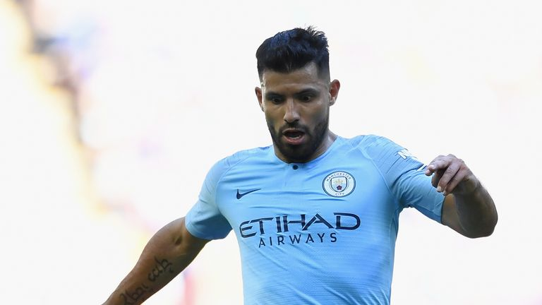 Sergio Aguero looked in ominous form at Wembley on Sunday