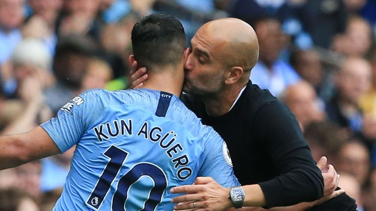 Pep Guardiola said Aguero returned this season in the best condition he has seen