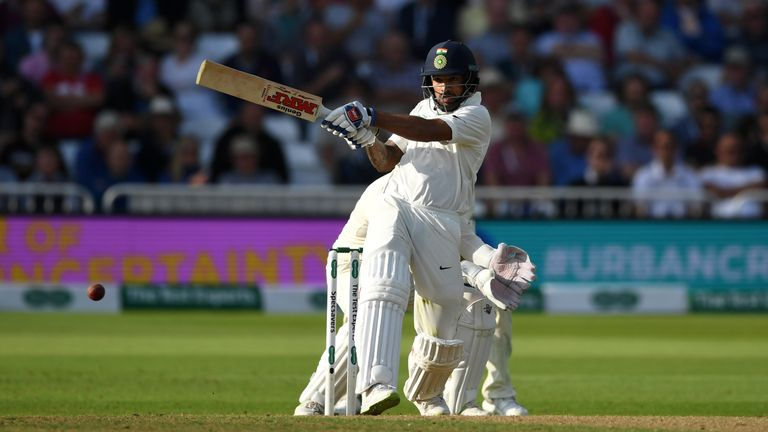 Shikhar Dhawan (pictured) and KL Rahul shared fifty stands in both innings for India