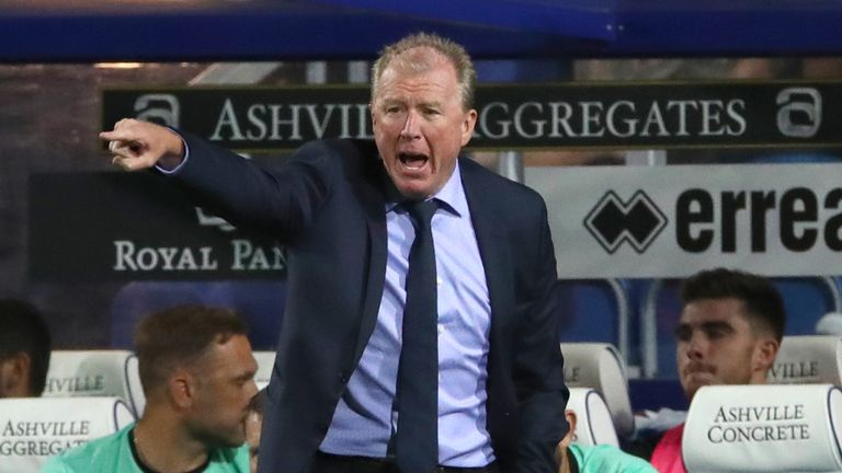 Queens Park Rangers manager Steve McClaren gestures on the touchline during the Carabao Cup, First Round match at Loftus Road, London