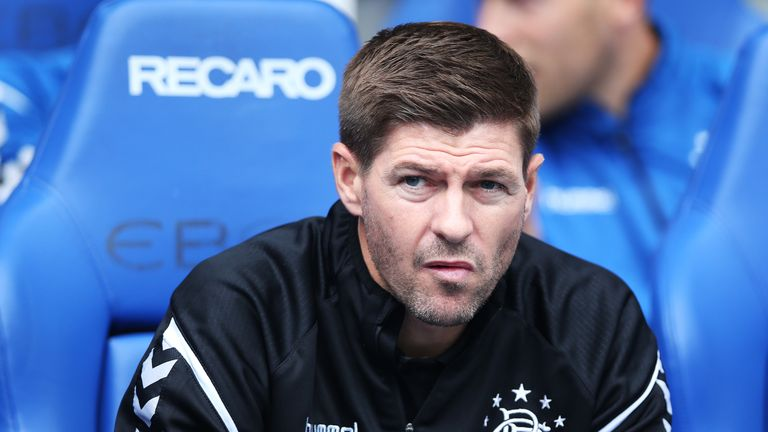 Steven Gerrard picked up his first league win as Rangers manager