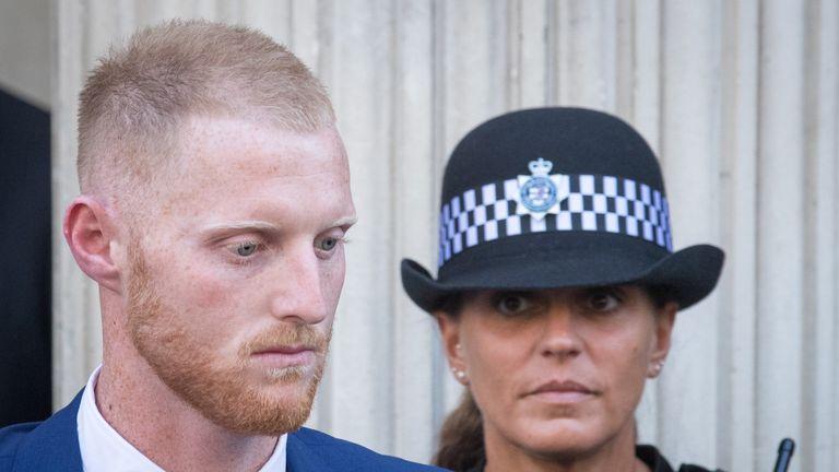 Stokes denies affray outside a nightclub