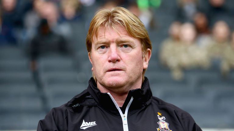 stuart mccall during the Sky Bet League One match between Milton Keynes Dons and Bradford City at StadiumMK on October 7, 2017 in Milton Keynes, England.