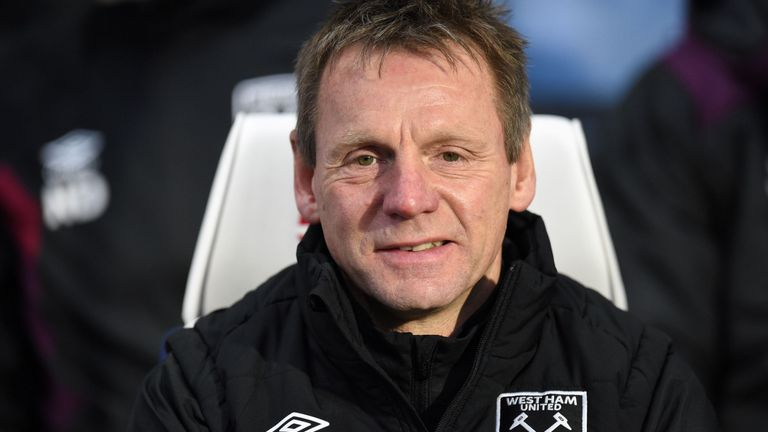 Stuart Pearce during his time as assistant manager at West Ham United