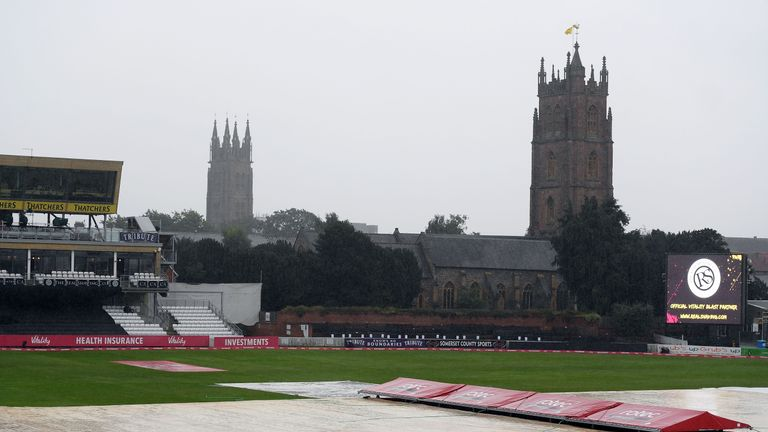 Somerset and Nottinghamshire will return to Taunton on Monday for their Blast quarter-final