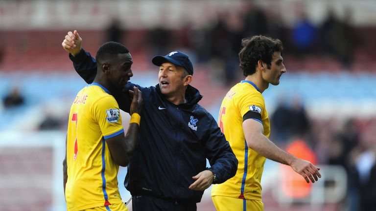 Tony Pulis and Yannick Bolasie at Crystal Palace