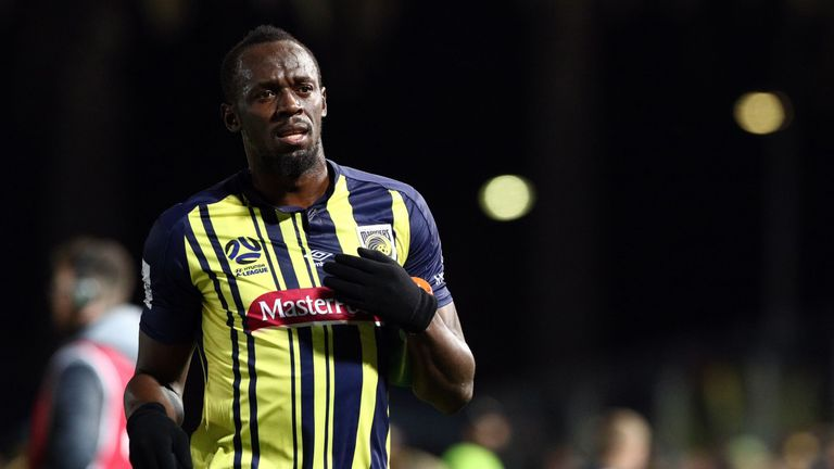 Usain Bolt made his debut for Central Coast Mariners