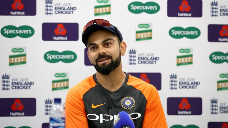India captain Virat Kohli during Wednesday's press conference at Lord's