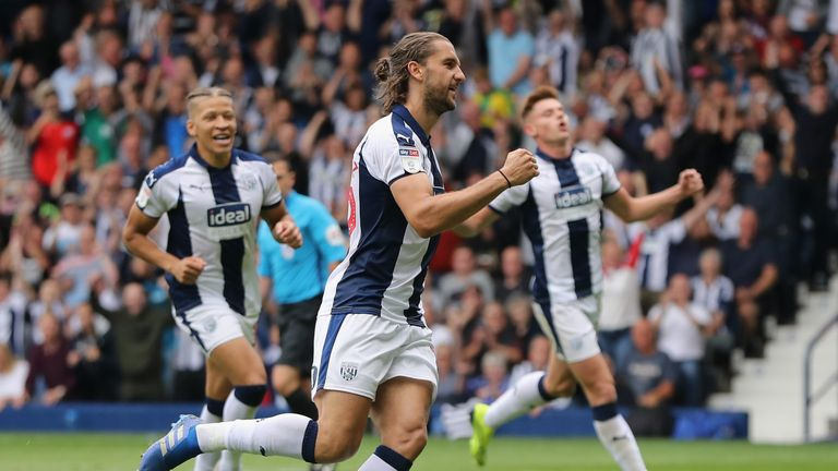 during the Sky Bet Championship match between West Bromwich Albion and Queens Park Rangers at The Hawthorns on August 18, 2018 in West Bromwich, England.