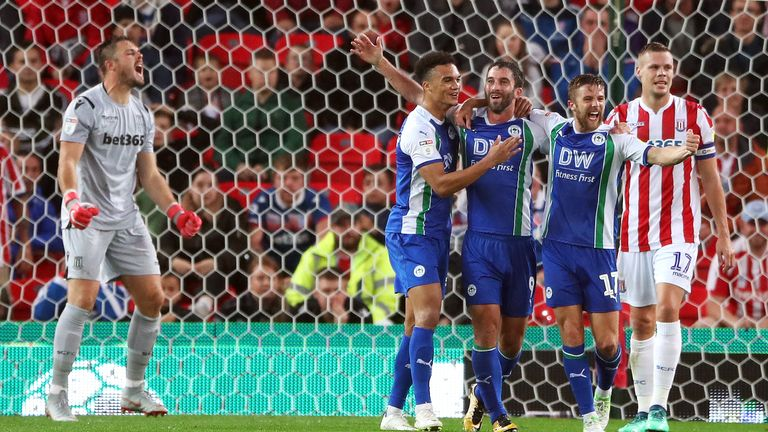 Wigan beat Stoke 3-0 at the Bet365 Stadium in August