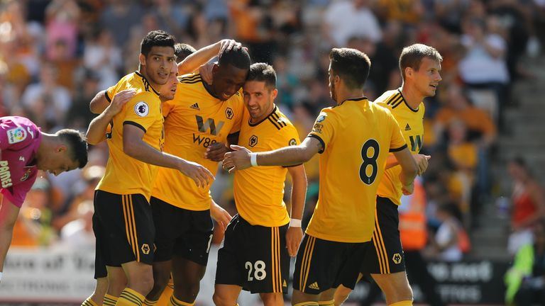 during the pre-season friendly match between Wolverhampton Wanderers and Villareal at Molineux on August 4, 2018 in Wolverhampton, England.