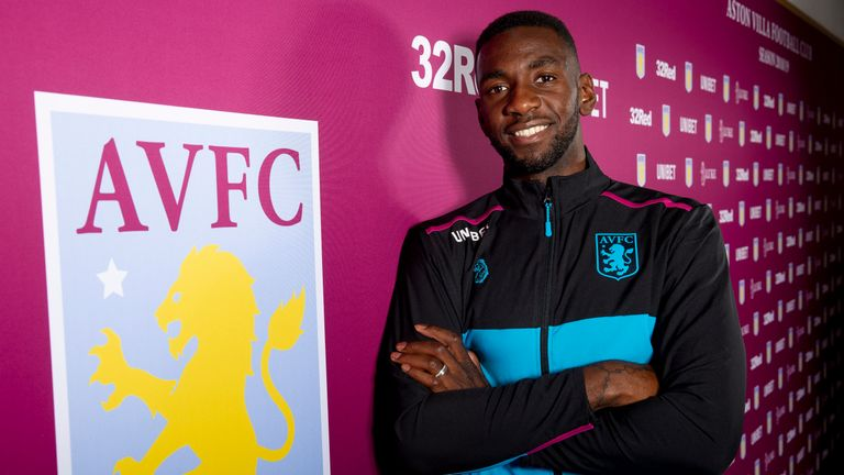 Aston Villa unveil new loan signing Yannick Bolasie
