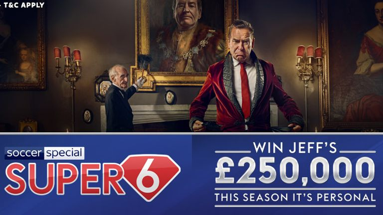 Super 6: Play for free to win the £250k jackpot