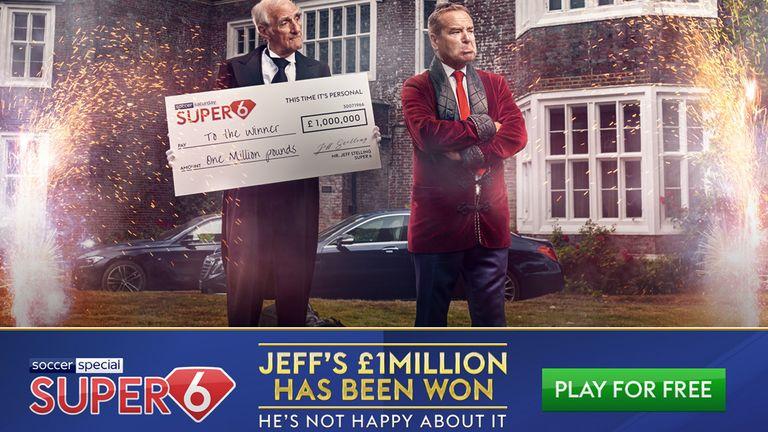 Saturday's £1million Super 6 jackpot was shared between three players