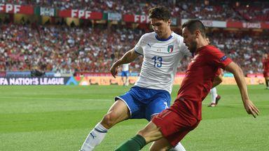 Bernardo Silva takes on Mattia Caldari