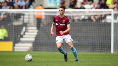 Declan Rice has yet to agree a new deal at West Ham
