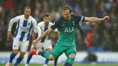 Harry Kane makes it 1-0 from the penalty spot