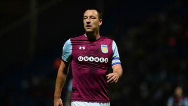 John Terry left Aston Villa following their Championship play-off final loss